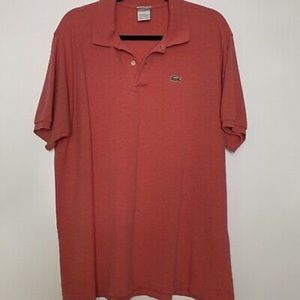 Izod Lacoste Vintage Mens 8 large Polo shirt knit